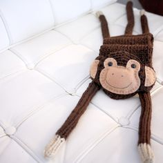 NEW - Chico the monkey scarf - M A D E - T O - O R D E R. $80.00, via Etsy.