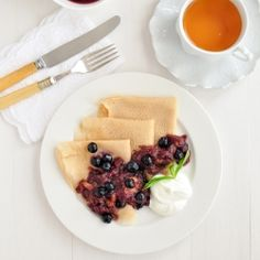Gluten Free Crepes w Summer Compote by 84thand3rd