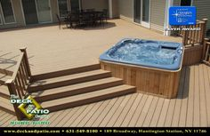 ideas for backyard hot tub deck pergolas Hot Tub Backyard, Backyard Patio, Whirlpool Deck, Piscina Spa, Hot Tub Cover, Deck With Pergola, Pergola Kits, Pergola Ideas, Diy Deck