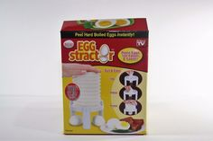 As Seen on TV Eggstractor hard boiled egg peeler NIB #AsSeenonTV