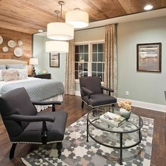 A second floor space converts perfectly into a mother-in-law suite as she transitions to another stage of life. Apartment Interior Design, Luxury Interior Design, Apartment Projects, Mother In Law Apartment, In Law House, Farmhouse Plans, In Law Suite, Guest Suite, Apartment Living