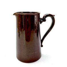 Tall Brown Jug Milk Gibsons Staffordshire Made In England Decorative Ornaments My Ebay, Milk, England, Ornaments, Brown, Shop, How To Make, Decor, Decoration
