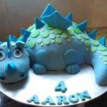 My dragon cake! The body is layers of chocolate mud cake sandwiched with dark chocolate ganache, the tailand part of the neck are sculpted from a kind of cake-pop mixture of chocolate mud cake and ganache. The head and part of the neck is made of rice krispy treats.The whole thing was then covered in chocolate ganache before it was covered with sugar paste.
