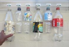 A cheap, simple plug in system to collect plastic bottles CLEAN for recycling.