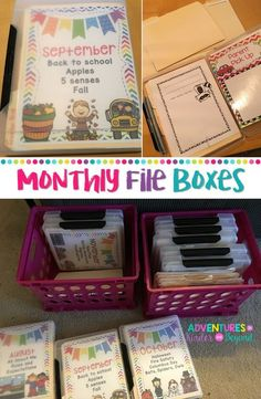 Get rid of those hanging files and read about these monthly boxes! Grab the covers as a freebie too! Classroom Get rid of those hanging files and read about these monthly boxes! Grab the covers as a freebie too! Classroom Hacks, New Classroom, Classroom Decor, Classroom Libraries, Classroom Layout, First Grade Classroom, Daycare Organization, Kindergarten Classroom Organization, Teacher Paper Organization