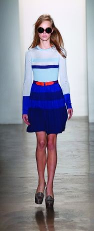 Pleated sweater dress.  Peter Som Spring 2012