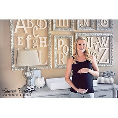 Anyone else pretty obsessed with this alphabet idea for a nursery!? Court (Photo by Lauren Tarpley)