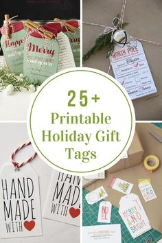 Are you looking for a unique, cute, or funny Printable Holiday Gift Tags for this year? Don't you think that a darling gift tag just finishes off a nicely wrapped gift?