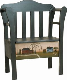 Small Amish Pine Storage Bench                                                                                                                                                                                 More