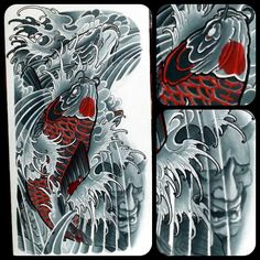 #mikedorseytattoo #koistudy #silkpaint study I did for trents arm. 3 koi and…