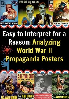 Easy to Interpret for a Reason: Analyzing World War II Propaganda Posters History Lesson Plans, World History Lessons, American History Lessons, History For Kids, Art Lesson Plans, History Education, Teaching History, Art Education, Today History