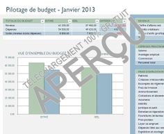 Modèle Tableau de pilotage de budget 2013 (Excel 2010) - Exemple Achat, Document Achat & Marketing