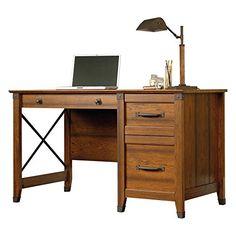 nice Sauder Carson Forge Desk - Washington Cherry