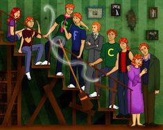 Weasley Family Portrait by *Whisperwings