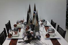 Christmas Table Display - very edgey.