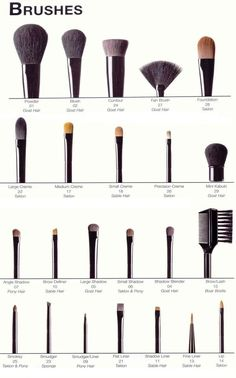 A Guide Of Makeup Brushes And Their Uses. Incredibly Useful For Every Girl! #Beauty #Trusper #Tip