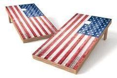 USA Flag Single Cornhole Board-Retro