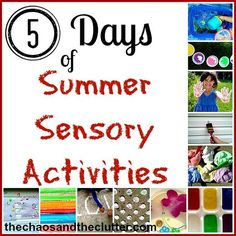 Summer Sensory Activities Series - so many great ideas for summer fun for kids