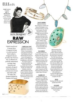 Thanks to Elle Arabia for the lovely article! We are humbled! Turquoise Necklace, Pendant Necklace, Teal Necklace, Drop Necklace