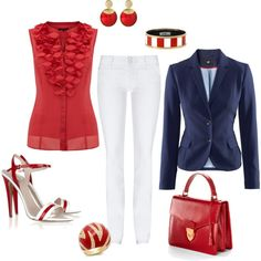 Red, White & Blue Outfit.