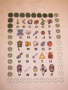 """I desperately need this """"Z is for Zelda"""" cross-stitch pattern."""