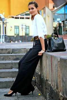 In Love With Fashion Black High Waisted Palazzo Pants