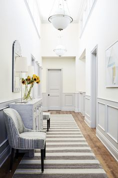 In  Good Taste: John De Bastiani Design. hallway. foyer. home decor and interior decorating ideas.