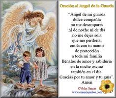 BLOG CATÓLICO GOTITAS ESPIRITUALES: Oración al Angel de mi guarda