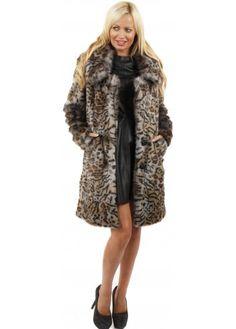 Urbancode Faux Fur Mist Grey Duffle Coat | Faux (Vegan) Fur ...