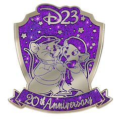 D23 Membership Exclusive 20th Anniversary The Rescuers Down Under Pin