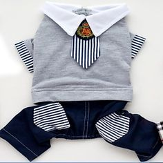 SELMAI Small Dog Jumpsuit Cotton Denim Stripe Tie Student School Uniform British Pet Dog Pajamas Sweater Snowsuit Jeans Puppy Cat Teacup Shih Tzu Chihuahua Clothes Outfits Apparel * Nice of you to drop by to visit the photo. (This is our affiliate link) Chihuahua Clothes, Pet Clothes, Denim Outfit, Pants Outfit, Pet Dogs, Pets, Dog Pajamas, Pet Fashion, Spring Shirts
