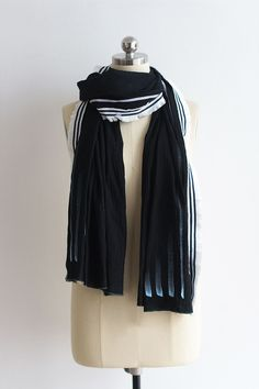 Hand Painted Lightwieght Cotton Scarves Black