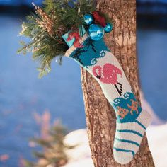 knit Christmas stocking made in USA