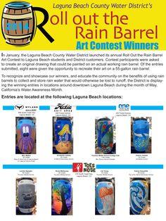 Laguna Beach County Water District Roll Out the Rain Barrel Art Contest 2014 Winners