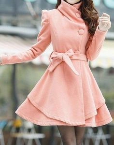 Cute peach dress coat