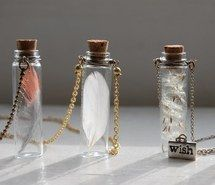 bottle, wish, feather, vintage, fairy