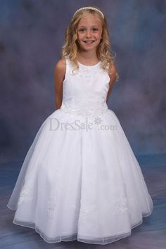 Adorable Scoop Flower Girl Dress with Charming Draped Skirt
