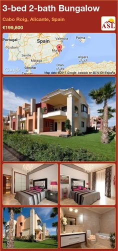 Townhouse for Sale in Orihuela Costa, Alicante, Spain with 3 bedrooms, 2 bathrooms - A Spanish Life Murcia, Valencia, Costa, Royal Park, Bungalows For Sale, Water Bed, Alicante Spain, Construction Process, Green Park