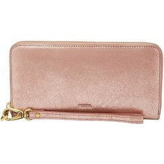 Fossil Sl7381791 Emma Rfid Large Zip Clutch (130 AUD) ❤ liked on Polyvore featuring bags, handbags, clutches, bags & luggage purses, beige leather handbag, zip coin purse, man bag, genuine leather handbags and fossil clutches