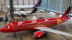 FOTO: Met dit vliegtuig vliegen de Rode Duivels naar de Europese titel