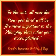Brandon Sanderson Quote From The Way of Kings - Topography by Mulluane@deviantart