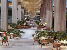 Image 14 of 23 from gallery of Sordo Madaleno Arquitectos Shares Proposal for Hotel and Residential Project in Mexico. © Sordo Madaleno Arquitectos, render by SMA Lobby Lounge, Hotel Lobby, Design Furniture, Sofa Design, Magazine Design, Elite Hotels, Bangkok, Hotel Hallway, Hotel Safe