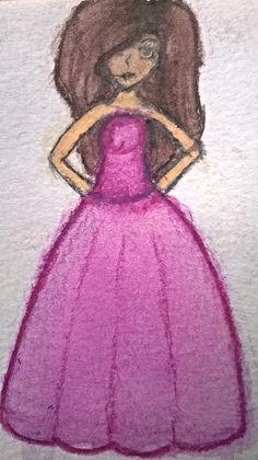 Mein erster versuch mit Wasserfarben (Stifte die sich mit Wasser verbinden) Das Bild ist relativ klein daher konnte ich nicht so viele Details einfügen .