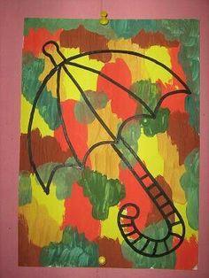 Autumn Crafts, Autumn Art, Autumn Trees, Art For Kids, Crafts For Kids, Arts And Crafts, Paper Crafts, Primary School Art, Elementary Art