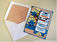 Minions Despicable Me Birthday Invitations - INTERACTIVE (see video link) and Playful, Set of 8