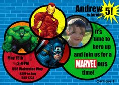 Marvel Avengers Birthday Party Invitation  by Cre8iveRaesDesigns, $11.00