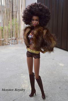 Channeling the fierceness African American Beauty, African American Dolls, Beautiful Black Babies, Pretty Black, Fashion Royalty Dolls, Fashion Dolls, Ebony Models, Diva Dolls, Dolls Dolls