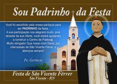 Arte para envelope do padrinho da Festa de São Vicente Férrer - 2014 - São Vicente-RN