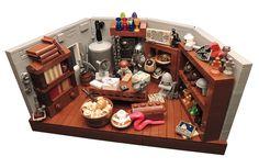 Lego Indiana Jones - Professor Jones' office @ Barnett College by Lego Indiana Jones, Lego Furniture, Lego Room, Lego Modular, Lego Castle, Cool Lego Creations, Lego Storage, Lego Worlds, Lego Projects
