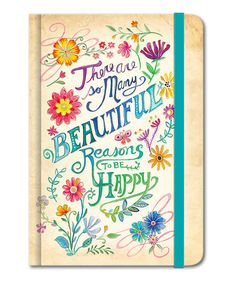 Another great find on #zulily! 'Beautiful Reasons' Hardcover Bungee Journal #zulilyfinds